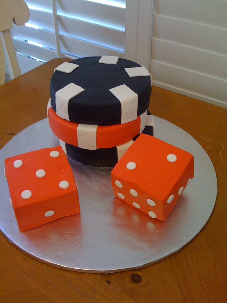 Chips And Dice For A Casino Party My Cake Decorations