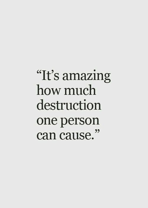 It is truly sad to see all the damage that a single person can do just to benefit their self...