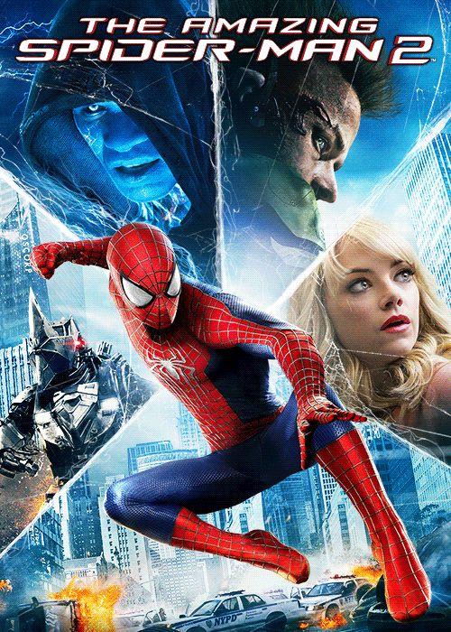 """""""The Amazing Spider-Man 2: el poder de Electro"""" / dirigida por Marc Webb: Ser Spider-Man es estupendo. Para Peter Parker no hay nada      como columpiarse entre rascacielos, ser un héroe y pasar tiempo      con Gwen. Pero ser Spider-Man tiene un precio: sólo Spider-Man      puede proteger a sus conciudadanos de los increíbles villanos      que amenazan la ciudad. Con la aparición de Electro, Peter debe      enfrentarse a un enemigo mucho más podereoso que él. Y cuando      vuelve su viejo…"""