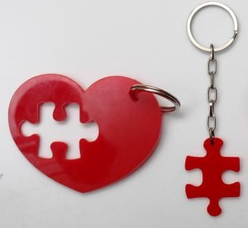 Couple's key chains
