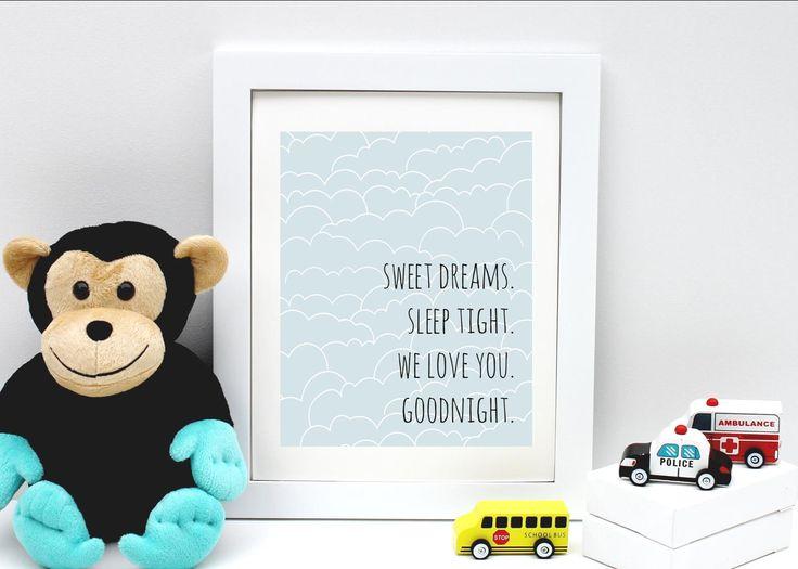Sweet Dreams Nursery Art Zara Stationery