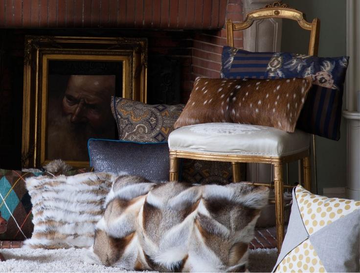Coussin décoration: Renard dautomne Par Origen