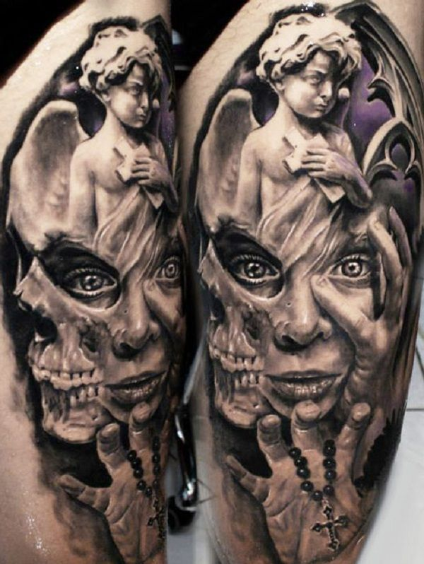 Skull Tattoos 64 - 80 Frightening and Meaningful Skull Tattoos   <3