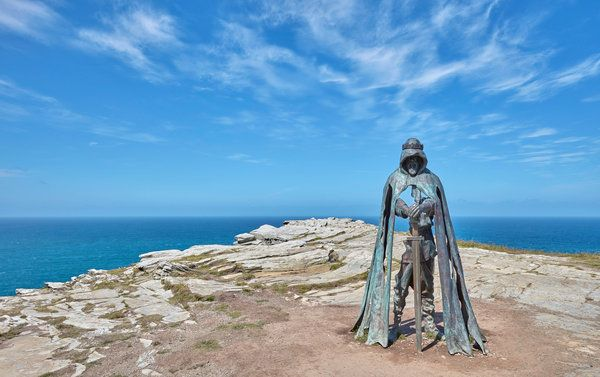 The area is a place of pilgrimage for late-model would-be knights of the Round Table, as well as mystical seekers of many stripes.