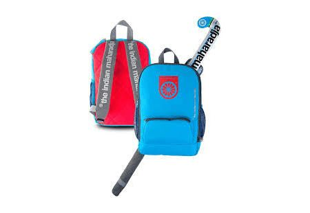 The Indian Maharadja kids backpack blue/red.