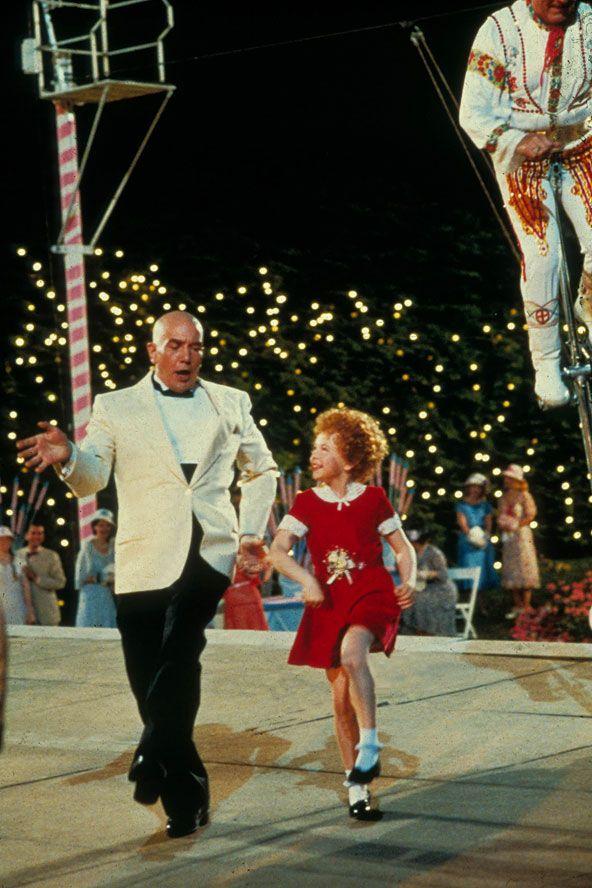 "Aileen Quinn, Albert Finney in ""Annie"" (1982). Director: John Huston."
