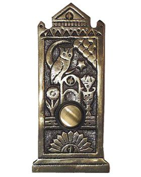 Waterglass Studios Handmade Victorian Style Solid Brass Door Bell Style 1601