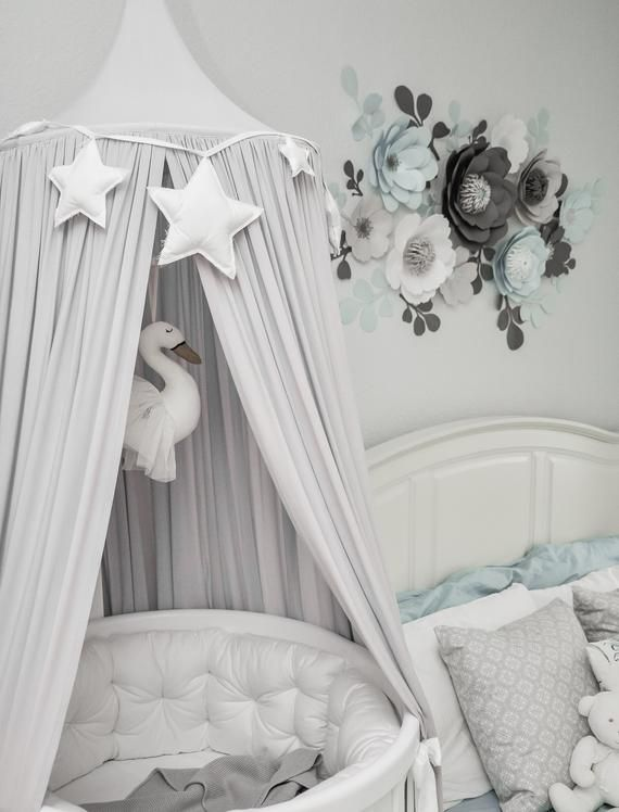 Bed Canopy Play Canopy Grey Grey Nursery Canopy Etsy Crib Canopy Nursery Canopy Grey Crib