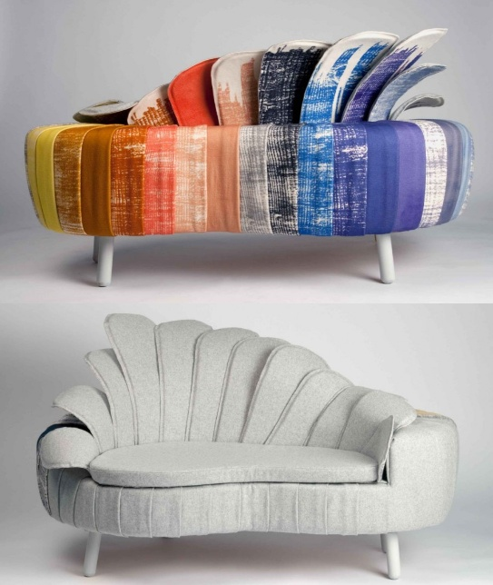 Split Personality Sofa by Danish designer Ditte Maigaard who runs the Ditte Maigaard Studio, Store & Online Shop. www.dittemaigaard.com