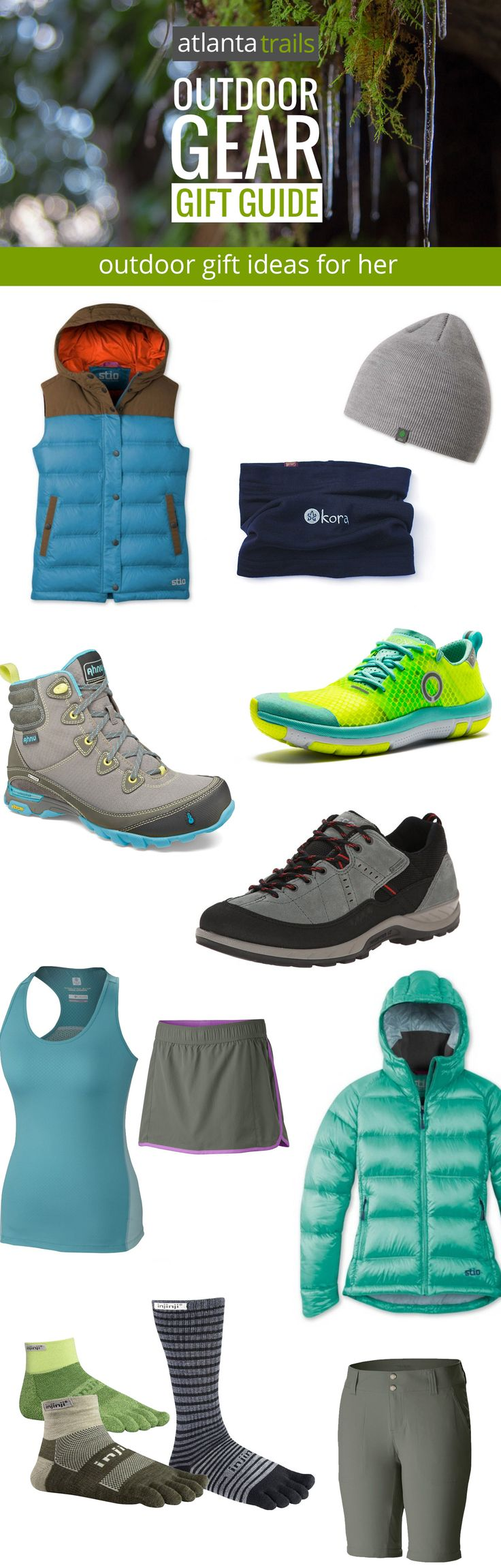 Looking for gift ideas for the runner, hiker or outdoor-loving lady on your list? Our women's outdoor clothing gift guide features our trail-tested favorite women's apparel, and the women's outdoor clothing gifts that top our own lists this year. @stio @ahnufootwear @skorarunning @eccoshoes @columbia1938 @injinji