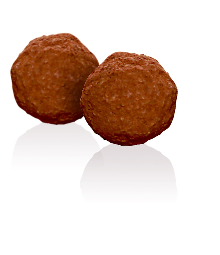Dark Chocolate Brandy Truffle: A thick dark chocolate truffle that has been lightly flavoured with brandy and rolled in cocoa.
