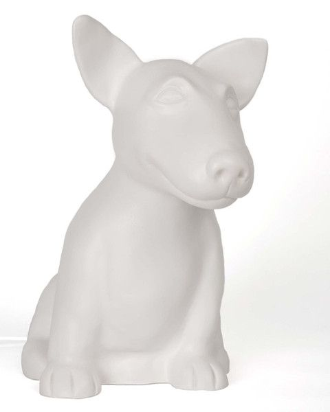 Exceptional Dog Table Lamp   White Onion The Cute Bull Terrier Pictures Gallery