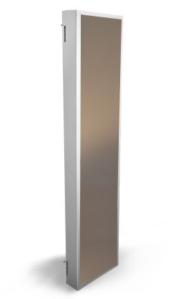 The Cabidor Classic Deluxe - Cabidor A behind-the-door cabinet that hangs on the door hinges and hides away.  Deluxe version has framed mirror on 'back' so you can have a mirror on the back of your door.