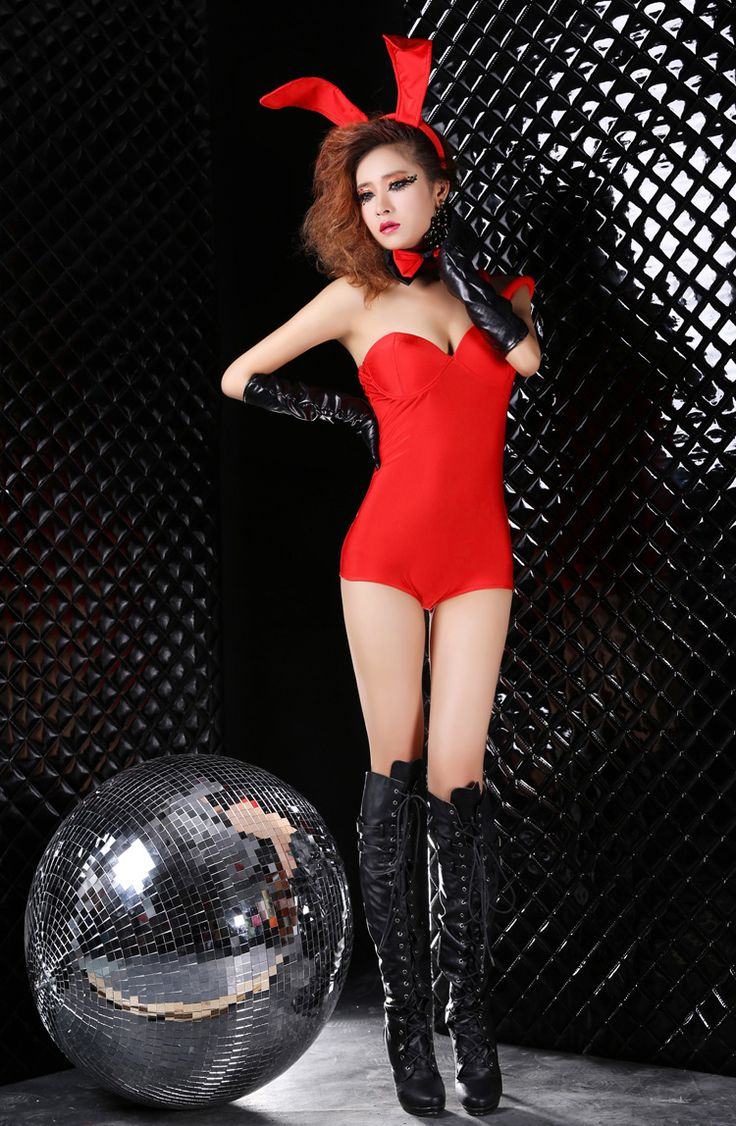 Sexy Buuny Costumes Red Red Party Halloween Cosplay