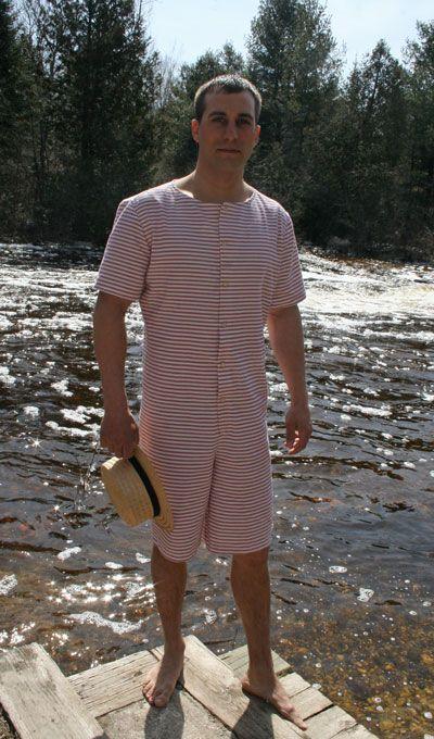 Victorian inspired men's swimsuit