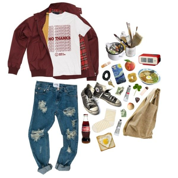 no thanks x9 by kampow on Polyvore featuring polyvore, mode, style, Topshop, SELECTED, Alexander Wang, Fred Perry, Tony Moly, Converse and Mason's