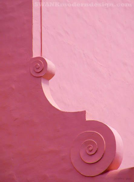 The classic pink hotel on Waikiki Beach, by American artist John Goss