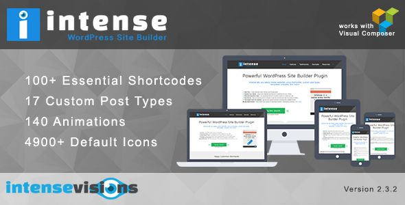 Intense v2.3.2 – Shortcodes and Site Builder for WordPress