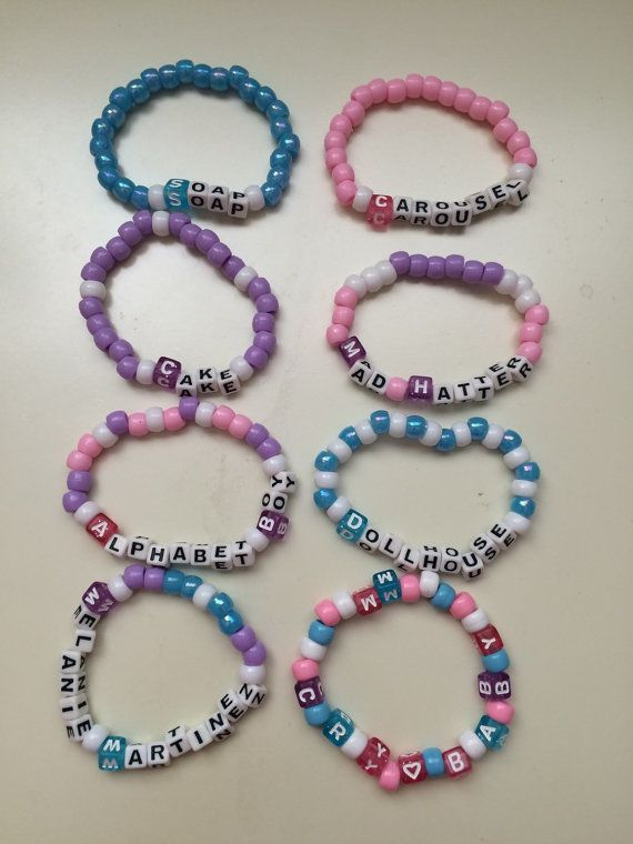 Hey, I found this really awesome Etsy listing at https://www.etsy.com/listing/469317339/8-melanie-martinez-kandi-bracelets