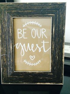printable be our guest room sign - Google Search