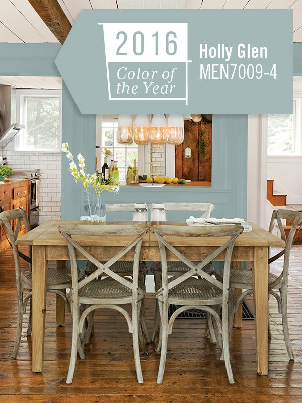 Holly Glen, the Pittsburgh Paints & Stains 2016 Color of the Year, combines blue and green tones to create a refreshing, enthusiastic vibe.