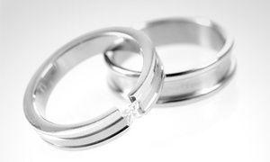 Groupon - Argollas de matrimonio en oro blanco modelo Toda la Vida con diamante de 10 puntos. Con retiro en Qtregalo en Groupon Shopping. Precio de la oferta Groupon: $849.990