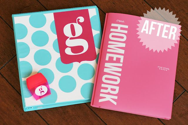 Back to school. What a great idea for folders!!