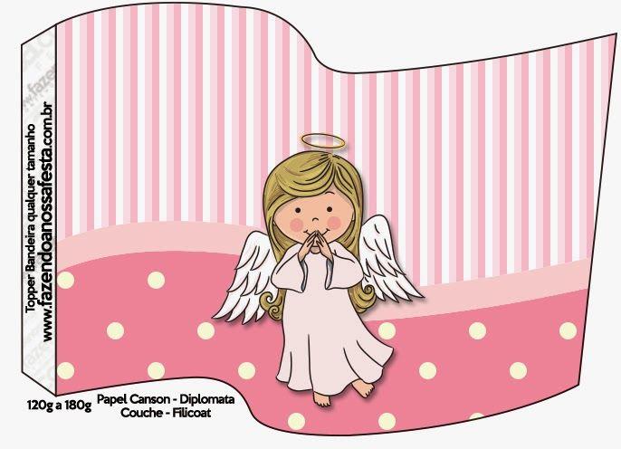 Angelita: Imprimibles y Fondos Gratis para Fiestas. | Ideas y material gratis para fiestas y celebraciones Oh My Fiesta!