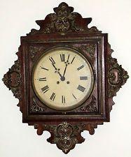 старинный рабочий 19 C. у Japy Freres викторианский французский дуб регулятор настенные часы