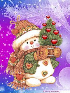 Снеговик - анимация на телефон №1360401