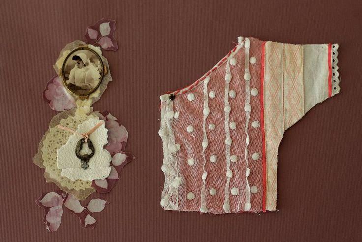 Collage Textil. Comuniòn. Alejandra Correa. www.ale-correa.com