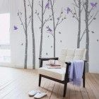 Trees in the Urban Forest - Grey - Wall Stickers