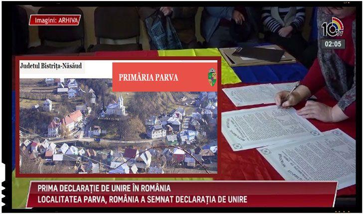 Moment istoric! Prima localitate din România care a votat Declaratia de Unire este comuna Parva din judeţul Bistriţa-Năsăud Luni, 19 februarie 2018, a fost consemnat un moment istoric in ceea ce priveste reactia administratiilor din România fata de fenomenul unionist din ultima vreme din Republica Moldova, acolo unde deja peste 20 de localitati au semnat…