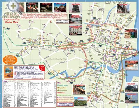 Hop-on hop-off FunVee City Tours bus landmarks routes Singapore top tourist attractions map