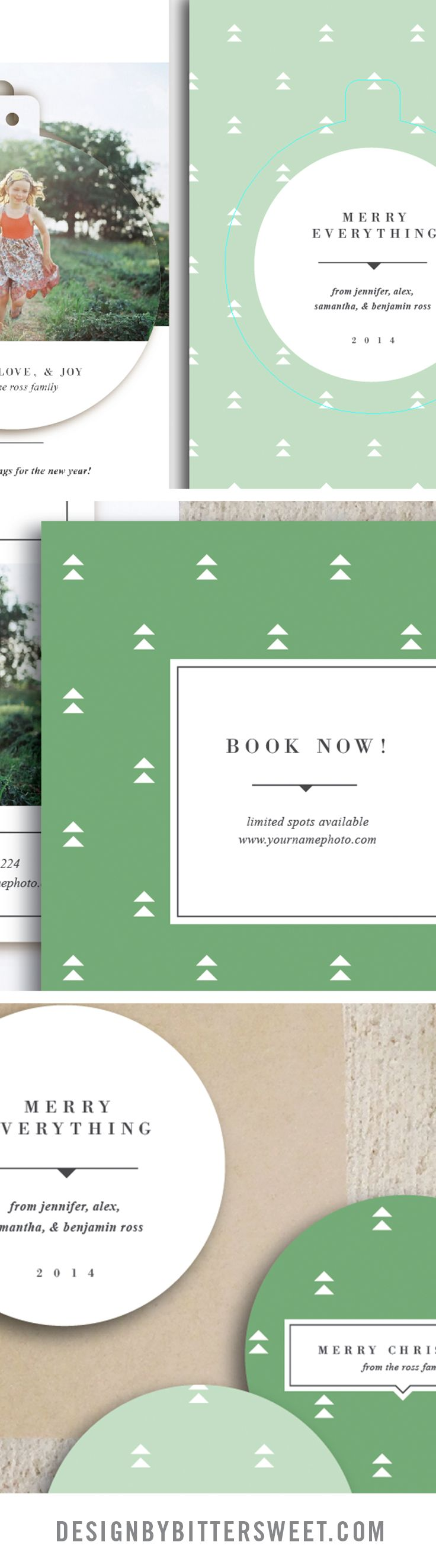 Holiday mini session templates. Christmas card designs for professional photographers. images courtesy of @colecollective