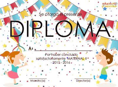 10 diplomas para maternal 1 y 2 ~ Imágenes Creativas
