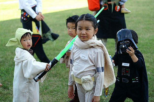 The pint-size Queen of Naboo. | 24 Badass Halloween Costumes To Empower Little Girls