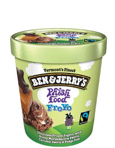 Phish Food Frozen Yogurt | Ben & Jerry's