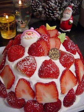 クリスマスケーキ苺ズコット&モントン使用