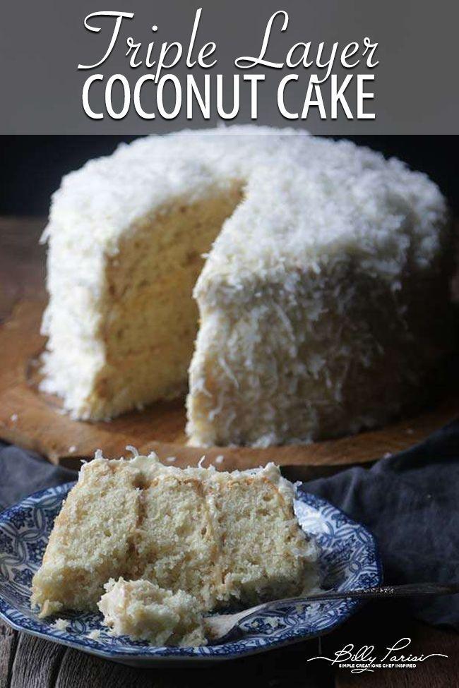 Triple Layer Coconut Cake Recipe