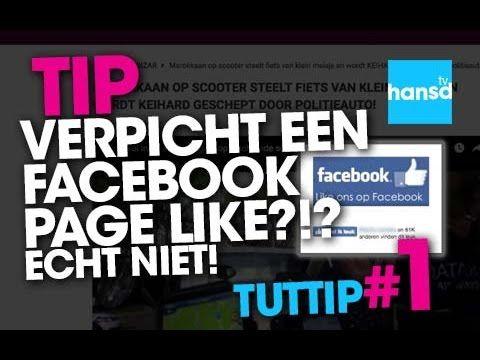 Een verplichte Facebook page omzeilen?