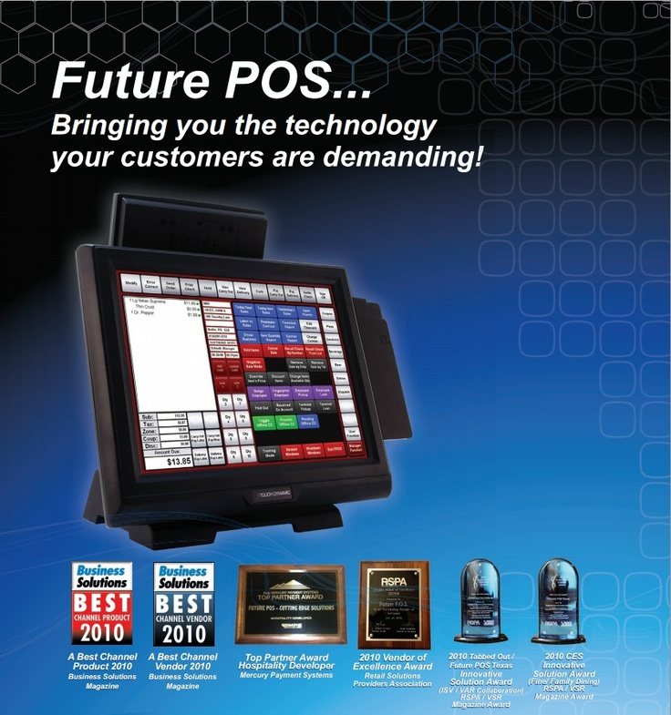 Future POS is a powerful point of sale software solution designed for the hospitality and retail industries. With the ability to handle virtually ANY size installation and the adaptability to manage ANY type of business, (from bar and fine dining to delivery and take out), Future POS is the system for everyone! We offer all the features that you have seen on more costly systems, plus more, but at a fraction of the cost. When you choose Future POS, you do not pay more, you just get more!