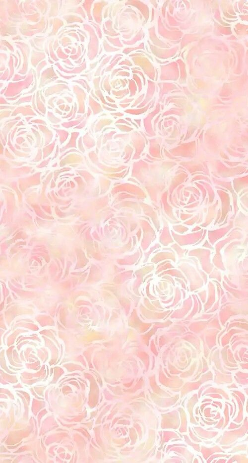Blush Pink White Floral Roses Watercolour Iphone Wallpaper Phone