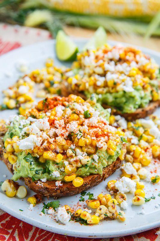 Esquites (Mexican Corn Salad) Avocado Toast | Closet Cooking | Bloglovin'