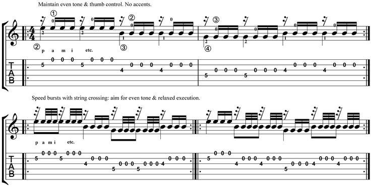 Classical Guitar Lesson Tarrega Recuerdos de la Alhambra Micro Study 2