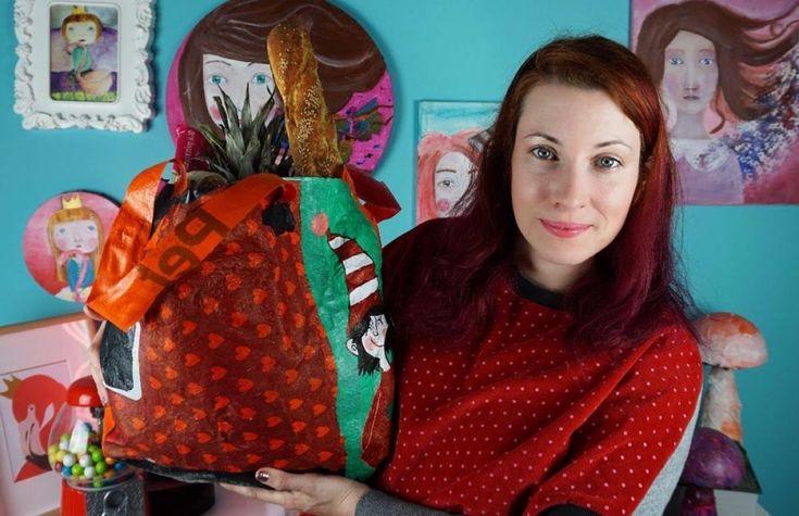 Πώς να φτιάξετε μία Τσάντα για τα ψώνια από Σακούλες!