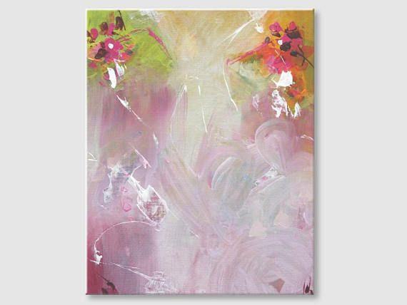 Abstract painting by Svetlansa #painting #abstract #svetlansa #homedecor #pink  #green #orange #artwork #wallart  #abstractart