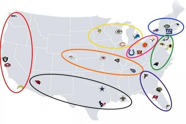 Redditor Creates Geographically-Based NFL Divisions