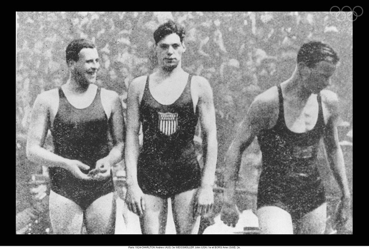 Johnny WEISSMULLER   Olympic Athlete   Amsterdam 1928, Paris 1924 -  US competition swimmer and actor best known for playing Tarzan in films of the 1930s and 1940s and for having one of the best competitive swimming records of the 20th century and world's fastest swimmers in the 1920s; 5 Olympic gold medals for swimming and 1 bronze medal for water polo. 52 US National Championships, set 67 world records and undefeated in official competition for the entirety of his competitive career.