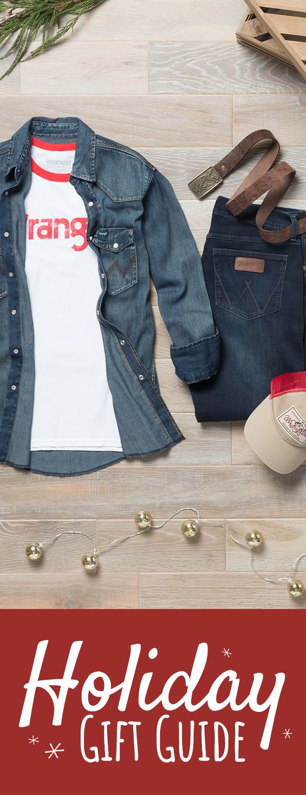 Find handpicked gifts for him ranging from jeans and pants to outerwear, accessories and stocking stuffers at Wrangler.com